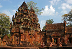 Banteay Srei. A Khmer temple in Angkor, Cambodia royalty free stock photography