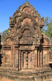 Banteay Srei, Angkor, Cambogia Fotografia Stock Libera da Diritti