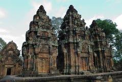 Banteay Srei, Angkor, Kambodja Stock Afbeelding