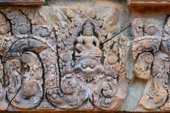 Banteay Srei, Angkor, Kambodja Royalty-vrije Stock Fotografie