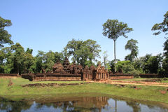 Banteay Srei in Angkor Stock Photo