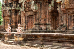 banteay srei angkor tempel Στοκ Εικόνες