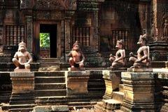 Banteay Srei Angkor Wat Obrazy Stock