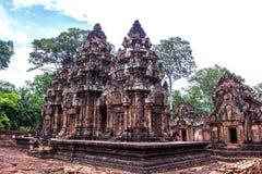 Banteay Srei - Angkor Wat Complex, Cambodja Royaltyfri Foto