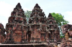 Banteay Srei - Cambodia. Banteay Srei is a 10th century Cambodian temple dedicated to the Hindu god Shiva Stock Image