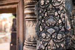 Banteay Srei Carving Royalty Free Stock Image