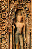 Banteay Srei Carving Royalty Free Stock Photography