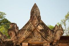 Banteay Srei che scolpisce i dettagli Immagini Stock Libere da Diritti