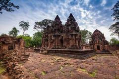 Banteay Srei (det rosa tempelet) Royaltyfri Fotografi