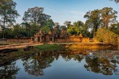 Banteay Srei es un templo hind? dedicado a Shiva en Angkor, Camboya fotografía de archivo libre de regalías