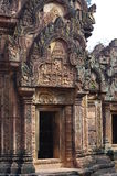 Banteay Srei exquisite decoration Stock Photo