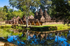 Banteay Srei in Forest Royalty Free Stock Image