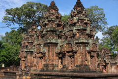 Banteay Srei general view from North angle Stock Image