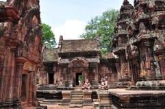 Banteay Srei - Kambodja Stock Afbeelding
