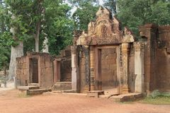 Banteay Srei Main Entrance Royalty Free Stock Photos
