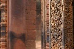 Banteay Srei ou Banteay Srey Photographie stock