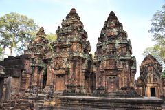 Banteay Srei. The relic of Banteay Srei in Cambodia Stock Images