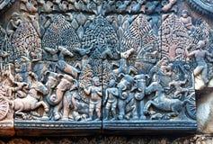 Banteay srei relief Royalty Free Stock Photos