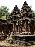 Banteay Srei ruins temple Stock Photos