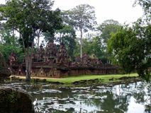 Banteay Srei ruins temple Royalty Free Stock Photography