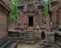 Banteay Srei ruins temple Royalty Free Stock Photo
