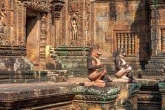 Banteay Srei in Siem oogst royalty-vrije stock foto