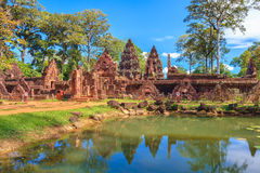 Banteay Srei, Siem oogst stock afbeeldingen