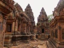 Banteay Srei, Siem oogst Stock Fotografie