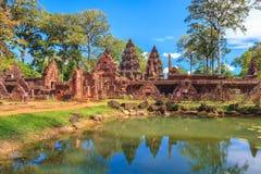 Banteay Srei, Siem Przeprowadza żniwa Obrazy Stock