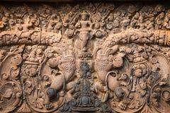 Banteay Srei snida Royaltyfri Fotografi