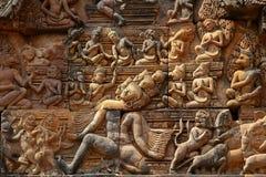 Banteay Srei Tempel Stockbilder