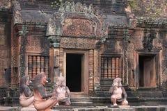 Banteay Srei tempel Arkivfoto