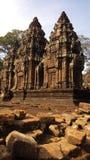 Banteay Srei Tempel Stockbild