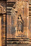 Banteay Srei Tempel Stockfotos