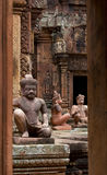 Banteay Srei tempel i Angkor Wat Royaltyfri Foto