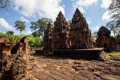 Banteay Srei tempelförbud Tai Srei Temple, Angkor komplex royaltyfria foton