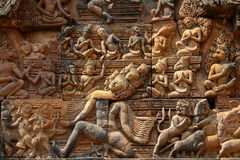Banteay Srei temple Stock Images