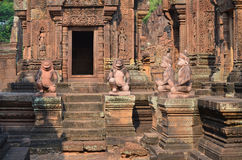 Banteay Srei temple of Angkor Royalty Free Stock Image