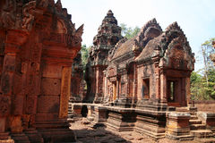 Banteay Srei Temple in the Angkor Area Royalty Free Stock Photography