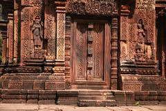 Banteay Srei Temple in the Angkor Area Royalty Free Stock Image