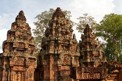 Banteay Srei Temple. Angkor, Cambodia Stock Photo