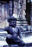 Banteay Srei temple- Angkor Wat ruins, Cambodia Royalty Free Stock Image
