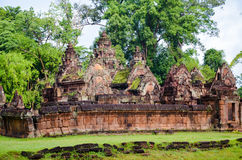 Banteay Srei Temple, Angkor Wat, Siem Reap, Cambodia. September 1, 2015 Royalty Free Stock Photo