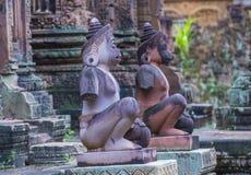 Banteay Srei Temple in Cambodia. SIEM REAP , CAMBODIA - OCT 17 : The Banteay Srei Temple near Siem Reap Cambodia on October 17 2017 , Banteay Srey is a 10th Stock Photos