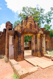 Banteay Srei Temple entrance Royalty Free Stock Photos