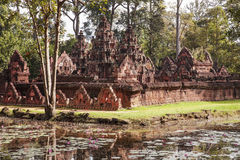 Banteay Srei Temple In The Jungle Royalty Free Stock Photos