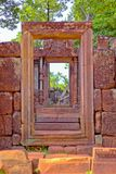 Banteay Srei temple Khmer architecture in siem reap .Banteay Srei is one of the most popular ancient temples in Siem Reap. Stock Photography