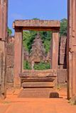 Banteay Srei temple Khmer architecture in siem reap .Banteay Srei is one of the most popular ancient temples in Siem Reap. Royalty Free Stock Photos