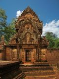 Banteay Srei temple near Angkor Wat, Cambodia. Royalty Free Stock Photos