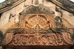Banteay Srei Temple Roof Top 3 Stock Images